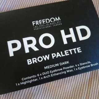 Freedom Pro HD Brow Palette Medium Dark