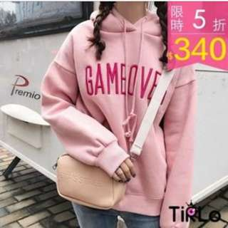 粉色帽t #女裝88