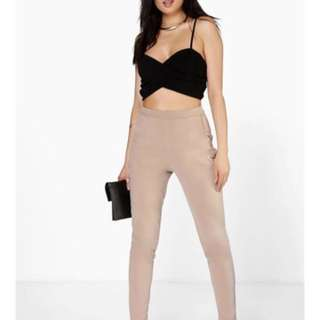 BNWT boohoo tailored trousers- nude