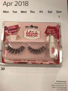 Blink charm eyelashes natural flair No.3 / bulu mata palsu