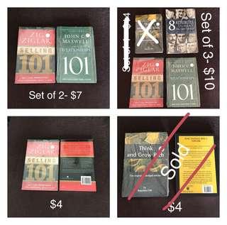 New books (Zig ziglar/ John Maxwell)