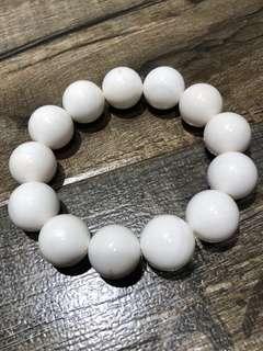 瓷白硨磲 17mm 少許金絲 實物拍攝