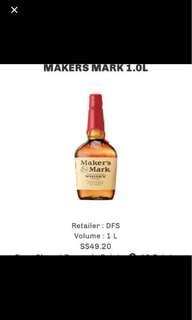 Maker's Mark (1 Litre)
