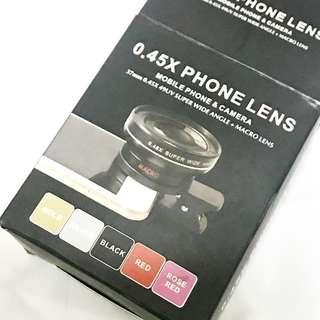 全新 Clip on Phone lens (0.45x) wide angle & macro