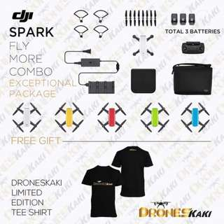 DJI Spark Fly More Combo 3Battery + 6Month Extended Warranty