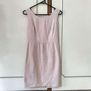 Vintage linen mini dress
