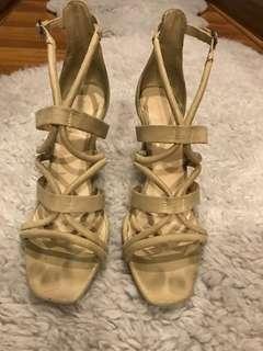 Zara Nude Strappy Heels SIZE 10