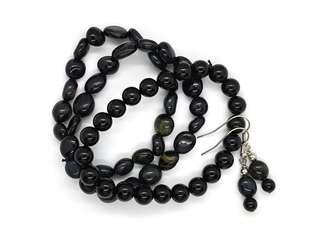 Black Obsidian Bracelet and Earrings