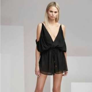 Finders Keepers Mateo Cut Away Playsuit