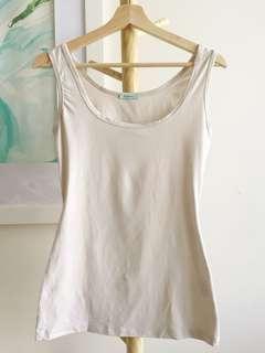 Kookai ivory white elastane tank top size 1