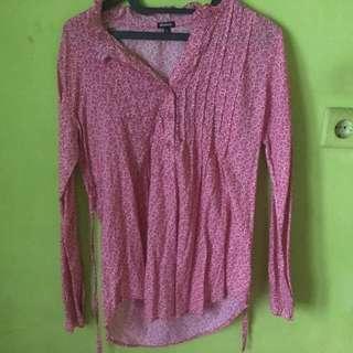 blouse panjang motif bunga