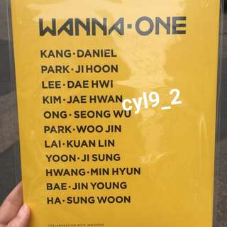 [Reserved] Wanna One x Innisfree photocards set