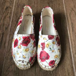 Dolce & Gabanna white floral espadrilles
