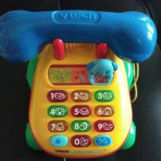 Vtech Baby telephone (wonderful light moving, song, number,colour)