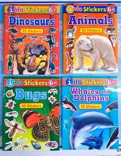 New~ 4in1 animals sticker learning books set  全新4本合一動物貼紙學習書