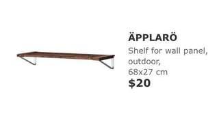 APPLARO shelf from IKEA