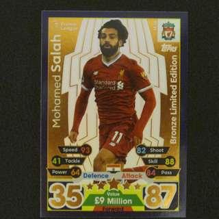 最新 17/18 Match Attax Extra BRONZE Limited Edition - Mohamed SALAH #Liverpool 利物浦
