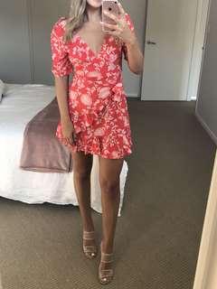 White Fox Boutique Serena Mini dress Red Print