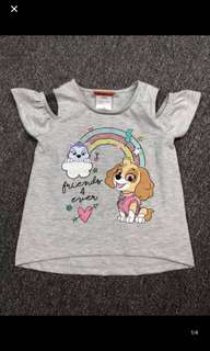 Instock new arrival !! Paw Patrol Skye co shoulder tops brand new size 3T to 5T