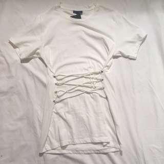 Topshop tshirt with corset