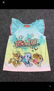 Instock new arrival !! Paw Patrol Skye TOP Brand New Size 3T -5T for 3-6yrs old