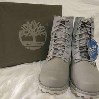 Original Timberland Fold Down Grey Boots