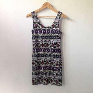 Divided H&M Aztec Tank Mini Dress