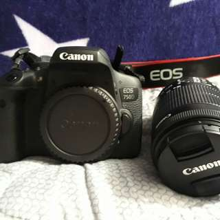 🚚 canon 750 with 18-55mm lens (9mos old)