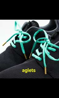 Rastaclat aglets and barrels