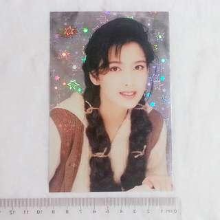 周慧敏 Vivian 大Yes Card 大Yes閃 閃咭 閃卡 明星 歌星 女藝人 女演員 女歌手 咭後歌詞:鏡上的唇印