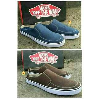 fe81e652b59 Sepatu sandal sendal vans kulit pria cowok original asli ori terbaru 2018  murah branded coklat navy