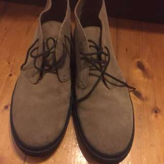Fred Perry brown suede ankle boots size US 11