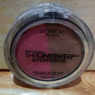 L'Oreal The One Sweep Sculpting Blush Duo 830 Flush 8.5 g