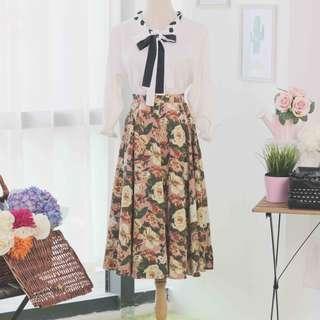 🍿 Vintage Midi Skirt VS1049