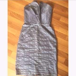 Gray tube dress