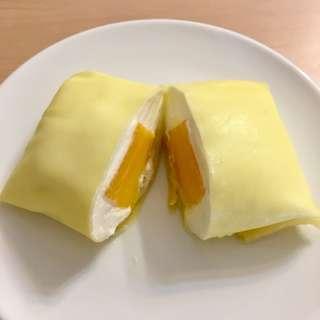 <自家製>港式芒果/香蕉班戟 Mango/Banana Pancake