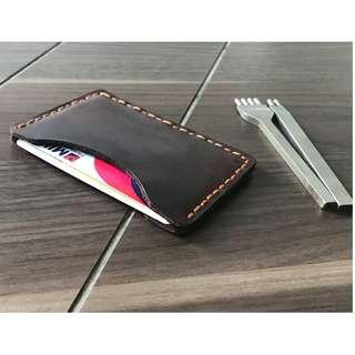 Leather Handmade Wallet Card Holder