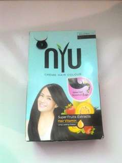 NYU Creme Hair Color Warna Natural Black 2.0