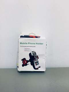 Handphone holder for bicycles and motorbikes