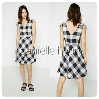 🐬Checkered  dress