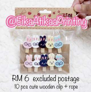 CUTE WOODEN CLIPS SET