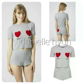 🐢Sleepwear terno top and shorts