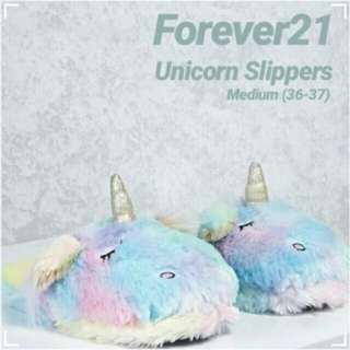 Forever21 Unicorn Fluffy Slippers