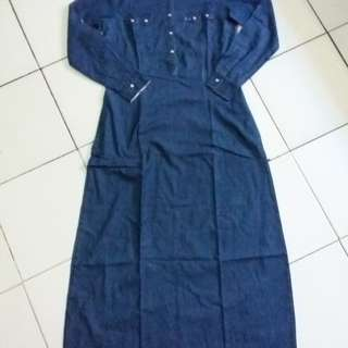 Denim dress/gamis