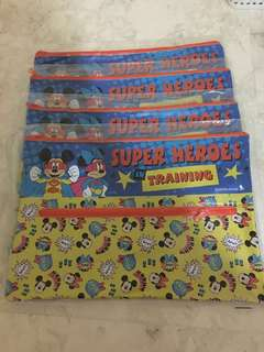 Brand New 04 Pieces Mickey Minnie Mouse A4 Size zipper folder Singapore Airlines