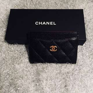 Authentic Chanel Cavier Quilted CardHolder