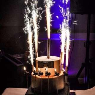 Sparkling Candles 6 pcs Pack – 30cm (L)