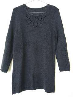 Navy hollow out sweater jumper