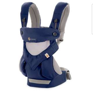 Ergobaby Direct Factory Import Performance 360 Cool Air Mesh Baby Wearing Carrier - France Blue