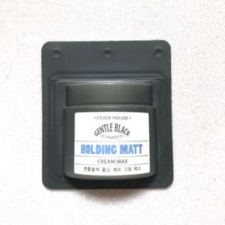 etude house gentle black holding matt cream wax free gift